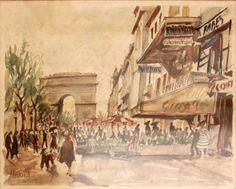 Parisian street artist Herbelot, Les Champs Elysees