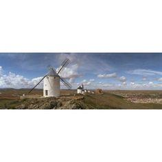 Traditional windmill on a hill Consuegra Toledo Castilla La Mancha Toledo province Spain Canvas Art - Panoramic Images (36 x 13)
