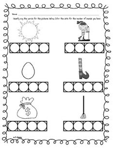 math worksheet : freebie! smartie speller  stretching words worksheet  class of  : Phonemic Awareness Worksheets Kindergarten
