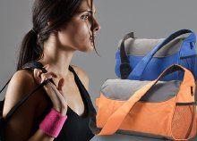 Cipzáras edző- és sporttáska kényelmesen hordható, hosszú vállpánttal, 2 trendi színben