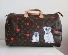 bolsa customizada louis vuitton juliana ali cachorro pug coracao