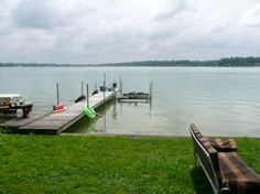 House in Edwardsburg, United States. The cottage is small and charming with an old world feel. It looks right on to the lake with 40 feet of frontage. There's a canoe available to use. There's a fire pit and a Weber grill, all the things you need for lake life!  The cottage is turn o...