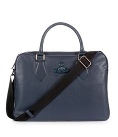 Leather Briefcase Blue #Christmas #GiftsForHim