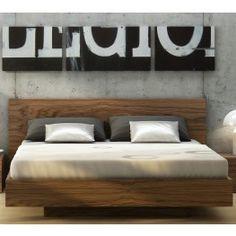 Float Walnut King Size Bed
