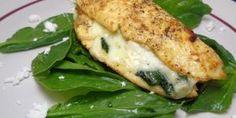 Receta de Pechugas rellenas de queso crema y espinacas