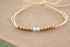 Serenity.simple beaded string bracelet. Tiedupmemories