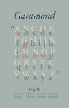 Garamond Poster on Behance