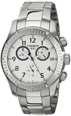 Men's Wrist Watches - Tissot Mens Analog Display Quartz Silver Watch *** Details can be found by clicking on the image. Stainless Steel Watch, Stainless Steel Bracelet, Watches For Men, Wrist Watches, Modern Man, Watch Brands, Omega Watch, Chronograph, All In One