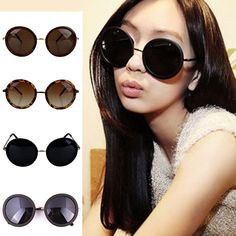New cat eye women sunglasses vintage black round shades for women cool ...