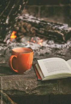Simple things. Coffee. Reading. Fire.
