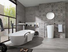 badezimmer fliesen 2015 in grau mit verschiedenen texturen badezimmer pinterest trends. Black Bedroom Furniture Sets. Home Design Ideas