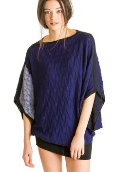 Rectangle Contrast Popover, Blue Star, 100% Mongolian Cashmere | Paychi Guh