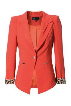 One Button Orange Blazer