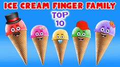 Ice Cream Finger Family Song - Top 10 Finger Family Songs - Daddy Finger Rhyme - added by fingerfamilysong in Best Finger Family Songs 2017 Finger Family Song, Family Songs, Kids Songs, Finger Rhymes, Nursery Rhymes Collection, Stephen Covey, Songs 2017, Daddy, Ice Cream