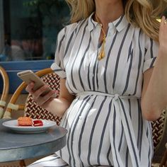 A Sweater Dress, a Jacket, and Sneakers - Bump Style - # Cute Maternity Outfits, Stylish Maternity, Pregnancy Outfits, Maternity Wear, Maternity Dresses, Pregnancy Style, Pregnancy Fashion, Yoga Pregnancy, Pregnancy Dress