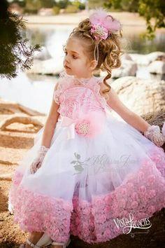 c41d7bf6e651 Items similar to Princess Party Rosette Dress on Etsy · Little Girl ...