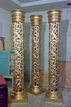 Thermocol Craft, Fiberglass Columns, Columns Decor, Pillar Design, Pooja Room Design, Temple Design, Wedding Stage Decorations, Marble Painting, Iron Furniture