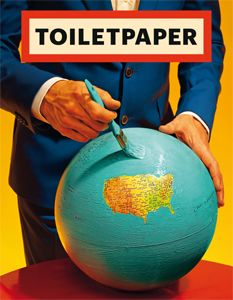 TOILETPAPER - the twelfth issue of the surrealist and provocative magazine designed by Maurizio Cattelan and Pierpaolo Ferrari. Published in February 2016.