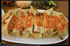 pan fried dumplings #Taiwan #food