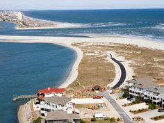 East end of Sunset Beach & the West end of Ocean Isle Beach, NC. The body of water between them is known as Tubb's Inlet.