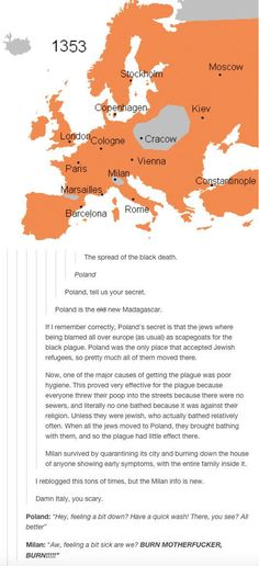 When they cracked the key to Poland's success at avoiding the Black Death. | 26 Times History Was Perfectly Summed Up By Tumblr