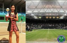 Tanisha Kashyap,14, From Assam Will Be Representing India At Wimbledon #tennis #assamese #assam #london #sports #sportswoman #passion #national #championship #young #achievers