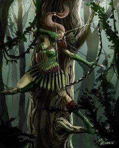 Leotar Archer (female) Elf_Archermansarali.jpg