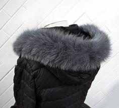READY TO SHIP, Real Fox Fur (Tail) Trim Hood, Fur collar trim, Fox Fur Collar, Fur Scarf, Fur Ruff, Fur Hood, Fur stripe, Coat Trim, Jacket