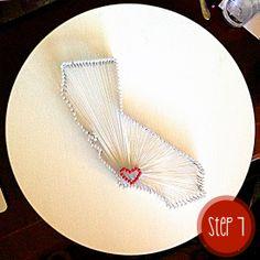 My Favorite Things: DIY California State Nail & String Art