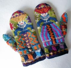 Ravelry: lacesockslupins' 'Foolish Virgins' Mittens - one of the most divine projects ever!!