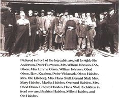 Slabakken-Halsten family reunion, Belmont, Minnesota, 1920