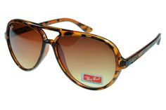 Ray Ban Cats 5000 Classic RB4125 Brown Leopard Sunglasses