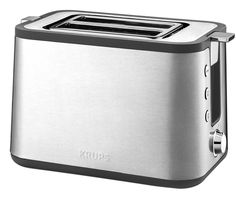Krups Control Line 2 Slice Toaster - Stainless Steel for sale online Small Appliances, Kitchen Appliances, Kitchens, Kitchenaid Toaster, Russell Hobbs, Id Design, Brushed Stainless Steel, Product Design, Simple