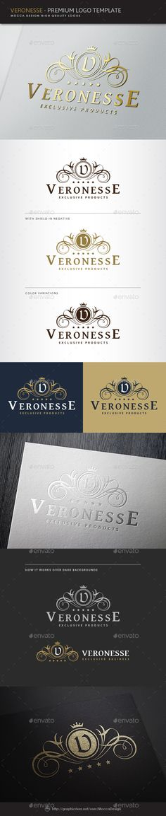 Buy Luxurious Logo by MoccaDesign on GraphicRiver. UPDATES - All fonts of the logo changed to Free fonts and Help File updated. – New color versions and. Logo Design Template, Logo Templates, Web Design, Graphic Design, Branding, Logo Web, Inspiration Logo Design, Style Inspiration, Crest Logo