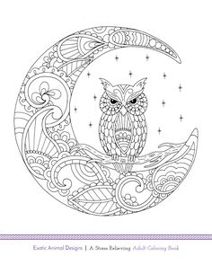 Another free adult coloring book page! Exotic Animal Designs is going to be…
