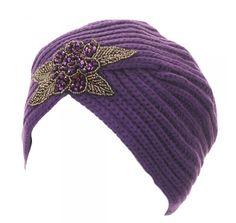 A Purple Turban though a little too dressed up than Thoth's turban. www.katharinewibellbooks.com