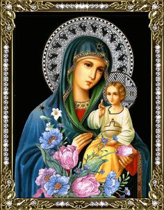 Jesus Virgin Mary Diamond Embroidery Religion Figures Diamond Painting Portrait Mosaic Kits For Embroidery Home Decoration Lady Madonna, Madonna And Child, Jesus And Mary Pictures, Hail Holy Queen, Jesus Photo, Mosaic Kits, Christian Artwork, Flower Phone Wallpaper, Mary Magdalene