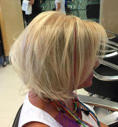 Older Women's Blonde Bob Hairstyle