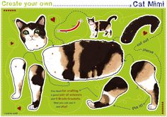 Craft bow cat Mimi *mobile * - paperdolls by katiwo - Ornaments / Figurines - Toys & Collectibles - DaWanda