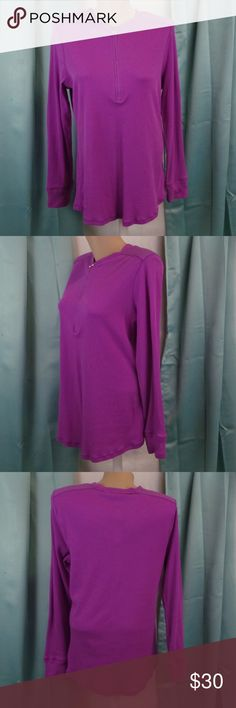 Lauren Ralph Lauren Purple Ribbed Knit Top 1X New Cute ribbed top with zipper neck closure! Brand new with tags!  Lauren Ralph Lauren Pure Lilac Plus Size - 1X Long Sleeve New with Tags Crew Neck with Half Zip closure Ribbed  Inventory:  190232774876 - MC1-77 Lauren Ralph Lauren Tops Blouses