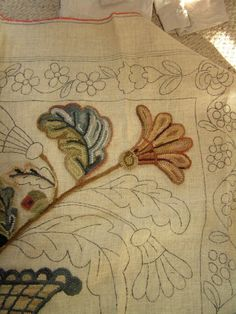 floral rug hooking pattern in the works