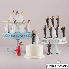 They actually have a bald groom that somewhat resembles my guy!  :D Mix  Match Interracial Couple Bride Groom Porcelain Wedding Cake Toppers #Weddingstar