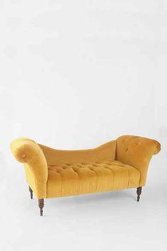 Antoinette Fainting Sofa - Antique Gold