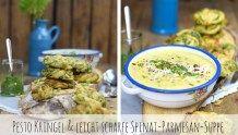 Pesto Kringel & leicht scharfe Spinat-Parmesan-Suppe (Werbung)