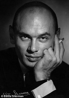 Yul Brynner  by famed celebrity photographer Editta Sherman who celebrated her 100th birthday this week.
