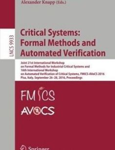 19 best engineering images book, books, books onlinecritical systems formal methods and automated verification free download by maurice h ter beek