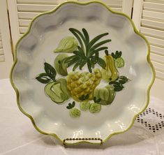 Vintage Los Angeles Pottery Platter Tray Pineapple by PanchosPorch Platter, Tray, Pineapple Fruit, Charger Plates, Vintage China, Craft Items, Vintage Kitchen, Vintage Shops, Cookie Jars