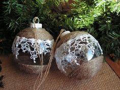 Christmas ornament set of 2. $18.00, via Etsy.