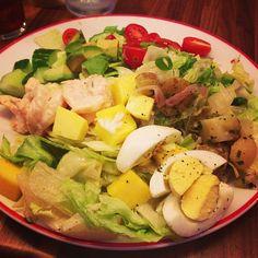 Founding Farmers' Shrimp Louie Cobb Salad: Romaine Hearts, Avocado, Mango, Potatoes, Louie Dressing.  #FoundingFarmers #salad #gardenfresh (Photo Credit @Debbie Arruda Vasquez Winchester)