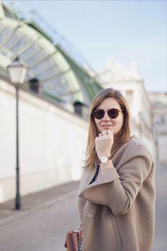Herbst Streetstyle Outfit mit Zara Mantel und Cluse Triomphe Uhr
